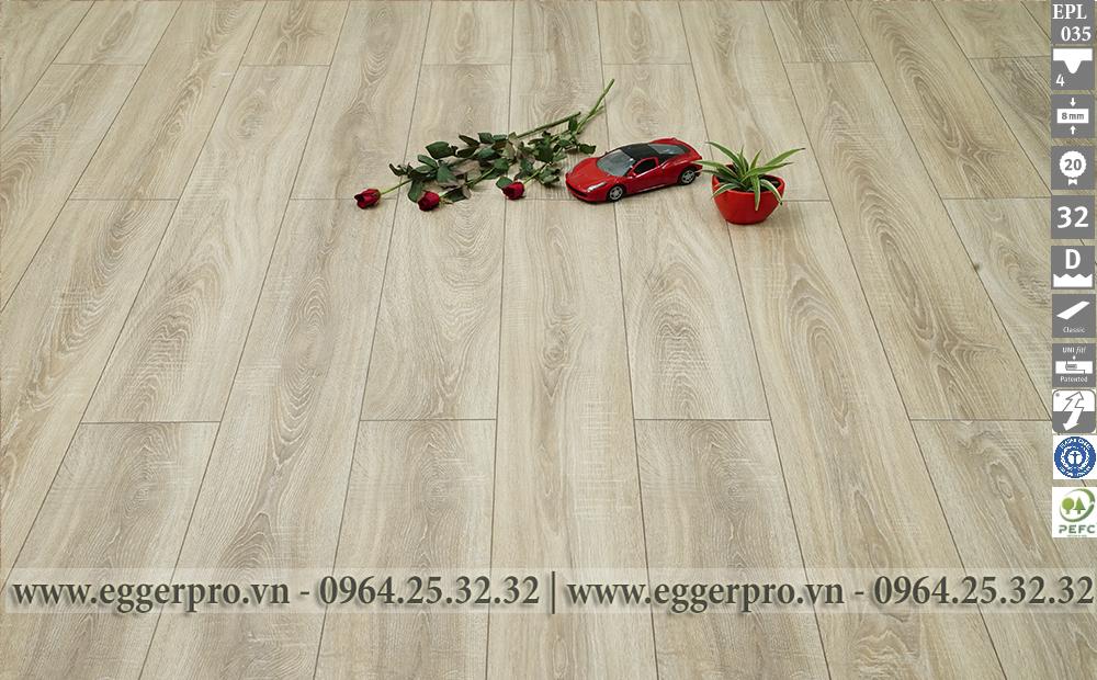 Sàn gỗ công nghiệp Egger nhập khẩu 100% tại Đức Epl035