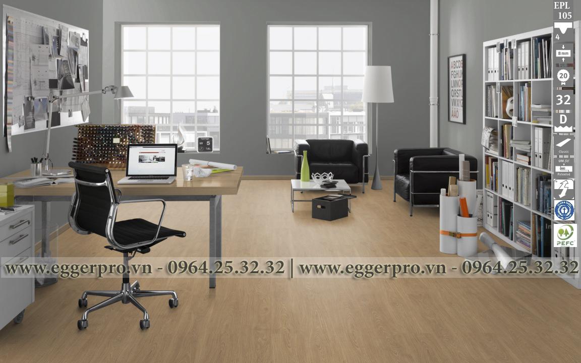 Sàn gỗ Công nghiệp Egger EPL105 Shannon Oak honey