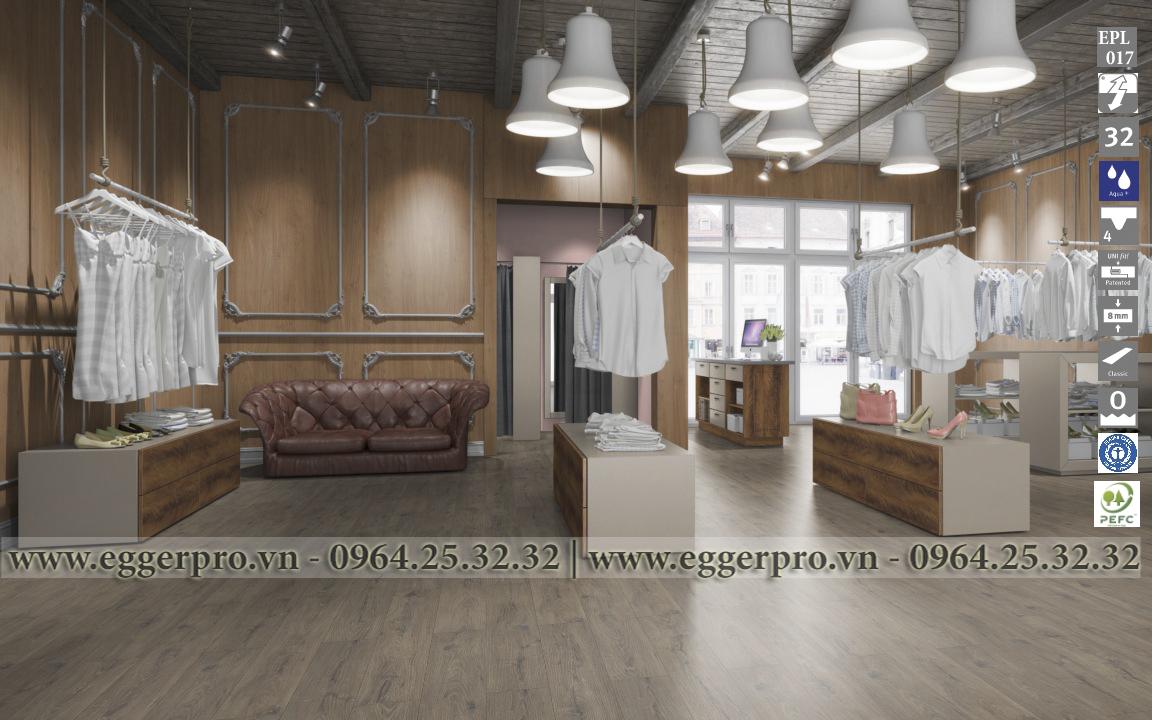 Sàn gỗ công nghiệp Egger EPL 017 - La Mancha Oak Smoke