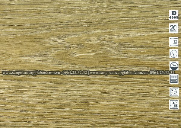 Sàn Gỗ Công Nghiệp Kronopol 12mm D 4905 - Iris Oak