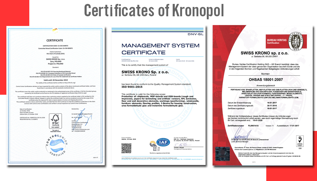 chứng chỉ của sàn gỗ công nghiệp Kronopol - SÀN GỖ CAO CẤP GIA BẢO