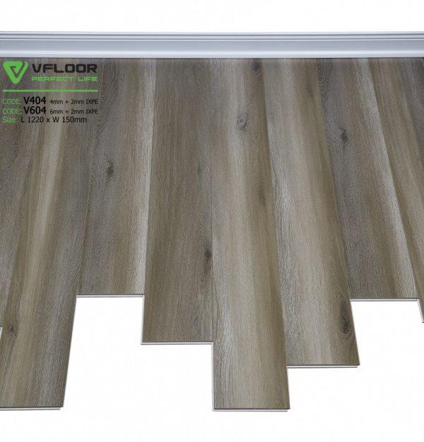 sàn nhựa hèm khóa cao câp spc vfloor V404