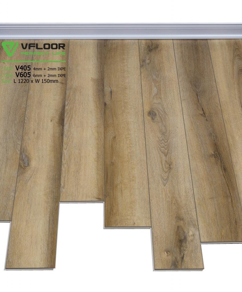 sàn nhựa hèm khóa cao câp spc vfloor V405