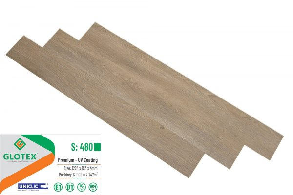 Sàn Nhựa Hèm Khóa GLOTEX S: 480