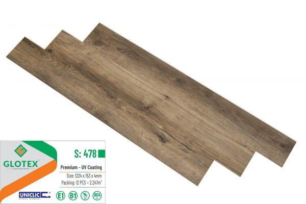 Sàn Nhựa Hèm Khóa GLOTEX S: 478
