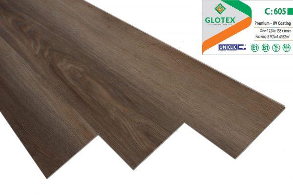 Sàn nhựa hèm khóa glotex 605